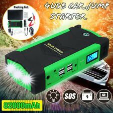82800mAh Car Jump Starter Booster LED Emergency 4USB Charger Battery