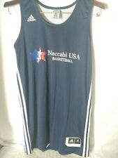 Maccabi USA  Basketball practice Reversable Navy/ White uniform Top size medium
