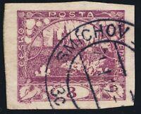 """TCHECOSLOVAQUIE / CZECHOSLOVAKIA - 1919 - """" SMÍCHOV 1 / 3c """" (V.1912-12/a) /Mi.1"""
