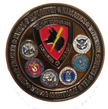 Guardians of the Night K9 MWD LE Challenge Coin - USAF USMC USN USA TSA DOD
