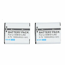 2PCS Battery For Pentax Optio WG-10 WG-20 WG-30 WG-40 WG-50 WG-60 WG-70