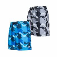 Trespass Chiggers Mens Beach Summer Swim Shorts in Blue & Grey
