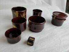 Vintage Occupied Japan Maruni Metal Base Lacquerware w. crap(s)