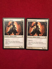 MTG X2 Thraben Valiant Avacyn Restored Magic the Gathering White Creature Cards
