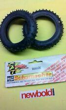 RC 1/10th Model Car Tyres, U6665K Schumacher NIP Mini Spikes Yellow Slim Frts.