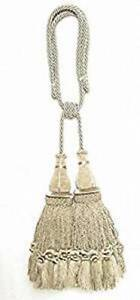 India House 79898 Jhalar Tieback with 10-Inch Double Tassel and 36-Inch Cord