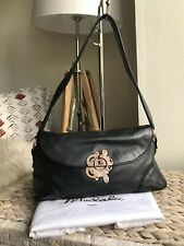 Modalu London black genuine leather handbag hobo bag with dust cover