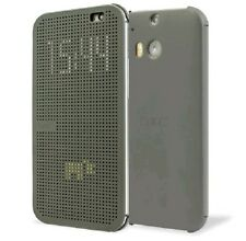 HTC HC M231 Dot View Folio Flip Interactive Cover Case for Android One M9 -Grey