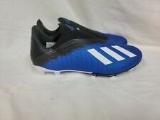New listing ADIDAS X 19.3 LL FG Mens Laceless Firm-Ground Soccer Cleats, Blue, 7
