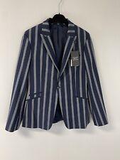 NWT Topman $280 Striped Sz:40R Super Skinny Blazer Suit Jacket Muscle Fit N208