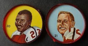 Nally's 1963 CFL Coins Ottawa Roughriders Russ Jackson #21 - Ernie White #30