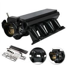 102mm Low-Profile Intake Manifold Hi-Ram LS1 LS2 W/Fuel Rails Black Sheet Metal