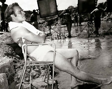 Charlton Heston on the Set 'Major Dundee'  - 8 1/2 X 11