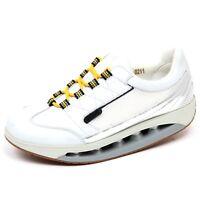 F4024 sneaker donna white silver SCHOLL STARLIT scarpe leather tissue shoe  woman 999d74a9f1e