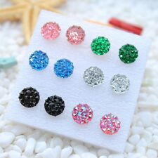 6 Pair earring stud jewelry acrylic exquisite women party gift fashion vintage