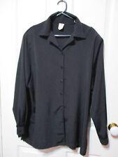 Ladies Black  Polyester Shirt long sleeves size XL