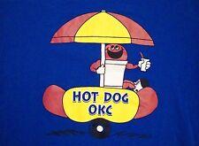 Hot Dog Stand OKC Oklahoma City Souvenir Blue T Shirt M