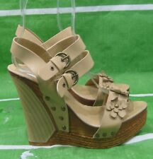 "new Womens Brown 5""Wedge Platforms High Heel Sandals Shoes Size 8.5"