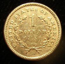 1851 G$1 Gold Dollar