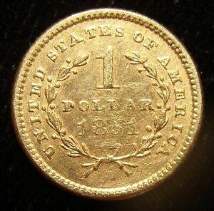 1851 G$1 Gold Dollar.
