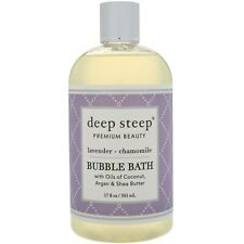 Deep Steep Bubble Bath Lavender - Chamomile 17 fl oz 503 ml Cruelty-Free, Vegan