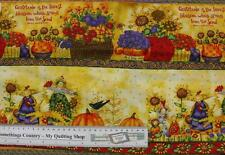 Patchwork Quilting Sewing Cotton Fabric HARVEST ANGELS BORDER Panel 30x110cm New