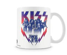 KISS 1974 Rock Band Musik Tour Kaffee Becher Coffee Mug Tasse