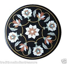 """24"""" Marble Coffee Table Top Flower Marquetry Mosaic Giving Tuesday Home Decor"""