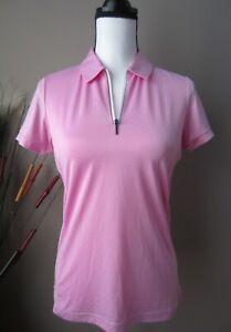 NWT PING Womens Sensor Cool S/S Golf Tennis Polo Top Shirt PINK Sz 4 Small