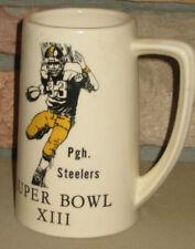 """PITTSBURGH STEELERS Super Bowl XIII Stein Mug 1978 Football NFL 6"""""""