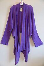 NWT Bryn Walker Aurora Purple Isabella 100% Cotton Open Jacket Top Size XL