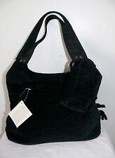Donna Sharp Black Velvet Quilted Shoulder Handbag Purse & Cell Phone Case NWT