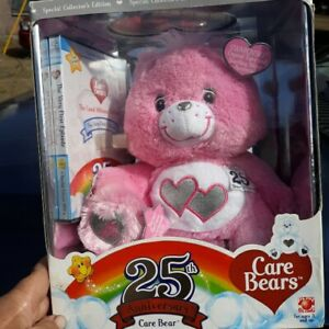 Care bears 25th anniversary pink with Swarovski crystal and sterling silver...