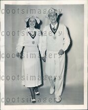 1948 Couple Models Official US Olympic Outfits Press Photo