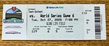 FULL MINT AUTHENTIC TICKET 2020 WORLD SERIES GAME 6 *BOX OFFICE ISSUED*
