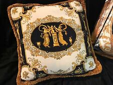 VERSACE PILLOW 1 cushion with 2 sides VINTAGE RETIRED estate