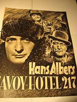Hans Albers in Savoy Hotel 217-IFK Nr.2473 aus den 30.40.Jahren, film program