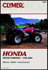 CLYMER SERVICE MANUAL HONDA TRX450 FE FOREMAN ES & TRX450 FM FOREMAN S 2002-2004