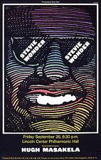 STEVIE WONDER concert poster 1968 by M. GLASER  signed!