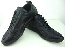 Belstaff Phoenix Low Vent Shoe cuir basses Chaussures Sneaker Black taille 42 NEUF