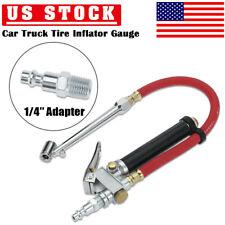 Car Tire Inflator 10-120 PSI Gauge Automobiles Tire Pressure Gun w/ 12In Hose