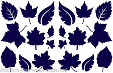 LEAVES VINYL WALL DECALS SET OF 20 DECORATING FAMILY ROOM BEDROOM MANY COLORS