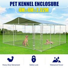4mx4m Dog Kennel Pet Run Enclosure Playpen Animal Fencing Fence Cage Outdoor