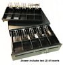 MMF POS CASH DRAWER WITH (2) 5 BILL/5 COIN TILS