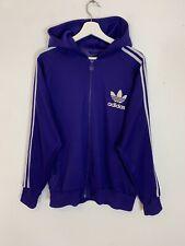 Para hombres De colección Adidas Originals Cierre completo Chaqueta Con Capucha Sudadera Púrpura L Grande