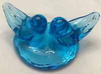 Ron Ray Dual Blue Bird Of Happiness Glass Figurine Signed 1995 EUC Rare