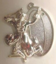 "Silvertone Metal Number ""10"" Pendant Ornament Figurine w Man Dancing"