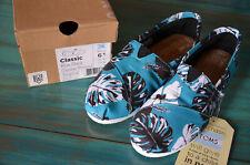 NEU TOMS Damenschuhe Slipper Espadrilles EU 37 Slip on Sneaker blau Canvas W 6.5