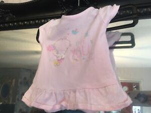 Baby Girls Mothercare Pink Top Age 0-3 Months