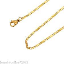 1 Edelstahl Kette Halskette Halsschmuck Vergoldet 50cmx1.8mm